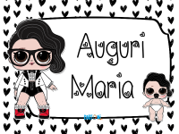 Lol surprise Black Tie Auguri Maria - Auguri Maria