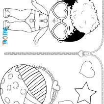 Rip tide da colorare Lol Surprise 3 Confetti Pop - Disegni da colorare