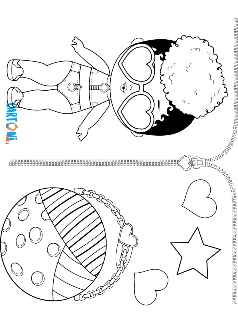 Rip Tide Da Colorare Lol Surprise 3 Confetti Pop Cartoni Animati