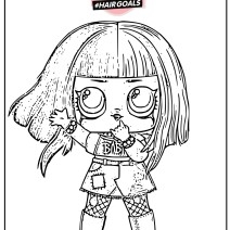 Metal Babe Lol Surprise hair goals coloring page - Stampa e colora