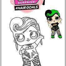 Baddhie Storybook LOL Surprice Hairgoals wave 1 da colorare  - Disegni da colorare