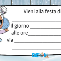 Lol Surprise invito Snow Angel - Inviti feste compleanno