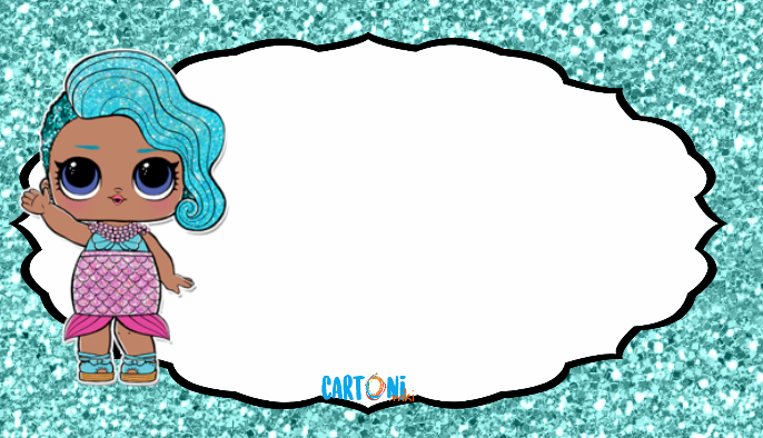 Lol Surprise Splash Queen invito - Cartoni animati