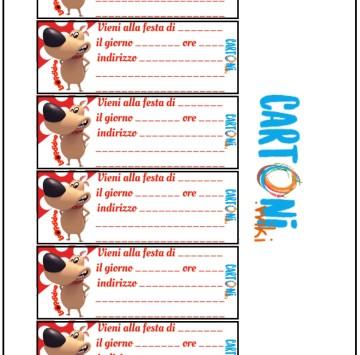 Loopidoo biglietto d'invito festa - Cartoni animati