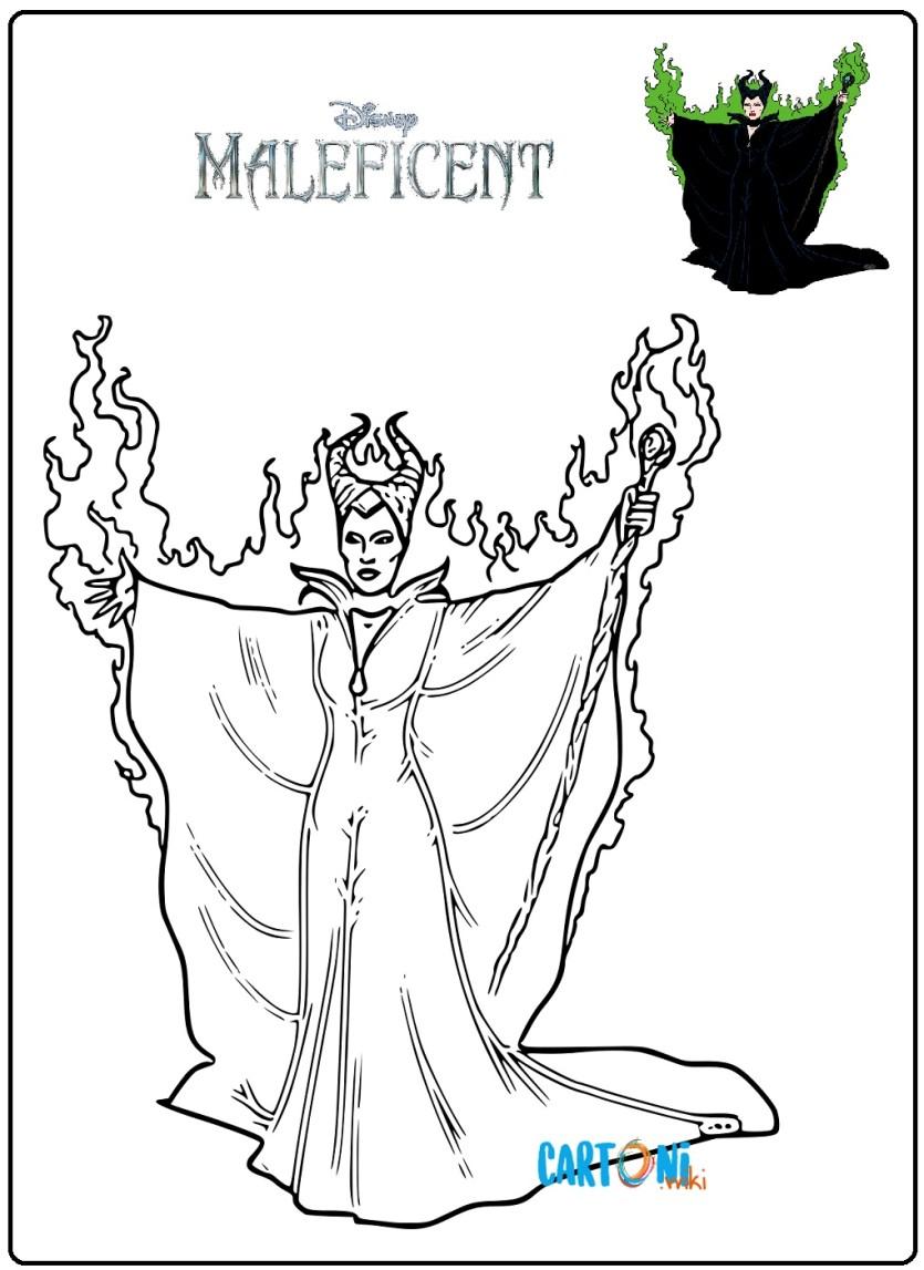 Maleficent disegni da colorare - Cartoni animati