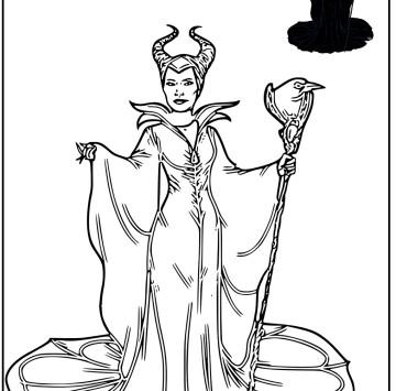 Disegno Maleficent da stampare - Cartoni animati
