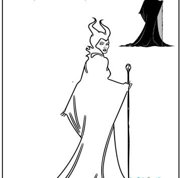 Maleficent colora la strega cattiva - Cartoni animati