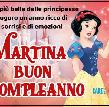 Buon compleanno Martina con Biancaneve - Cartoni animati