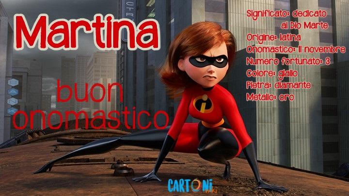 Martina Buon onomastico - Cartoni animati
