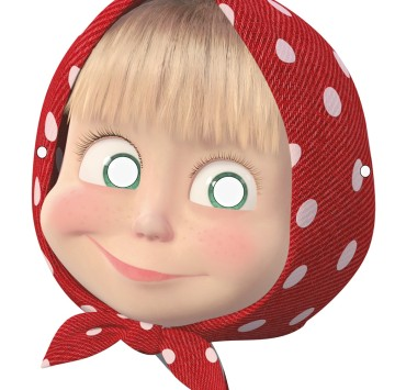 Maschera Masha da stampare - Cartoni animati