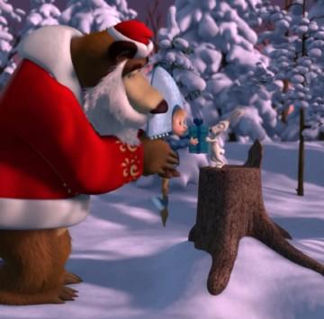 Masha e Orso - Canzone Natale Gioia e serenità - Cartoni animati