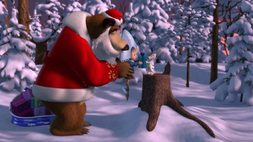 Masha e orso canzone natale gioia e serenità cartoni animati
