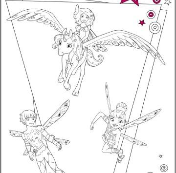 Disegni Mia and Me da stampare e colorare - Cartoni animati