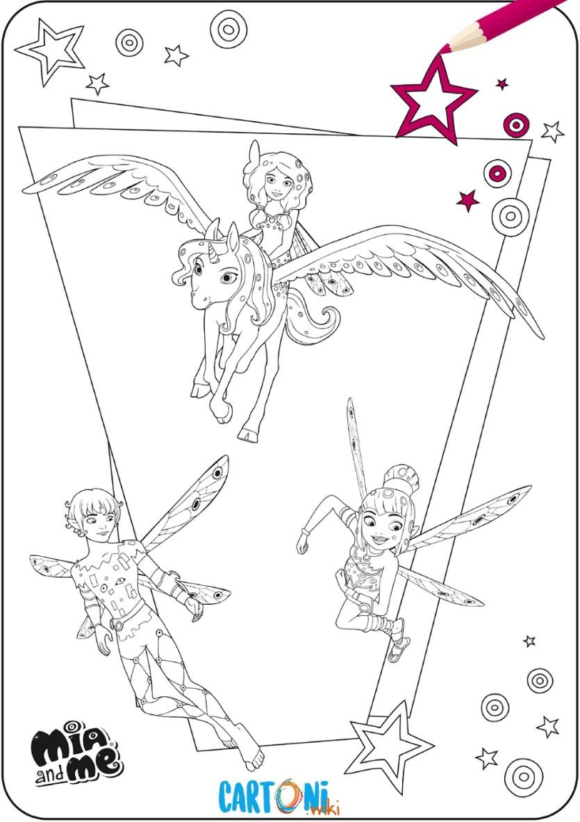 Disegni Mia And Me Da Stampare E Colorare Cartoni Animati