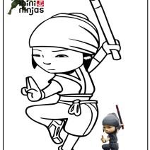 Mini Ninja disegni da colorare - Disegni da colorare