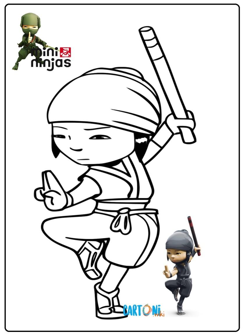 Mini Ninja Disegni Da Colorare Cartoni Animati