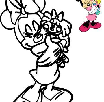 Colora Minnie e la sua bambola - Cartoni animati
