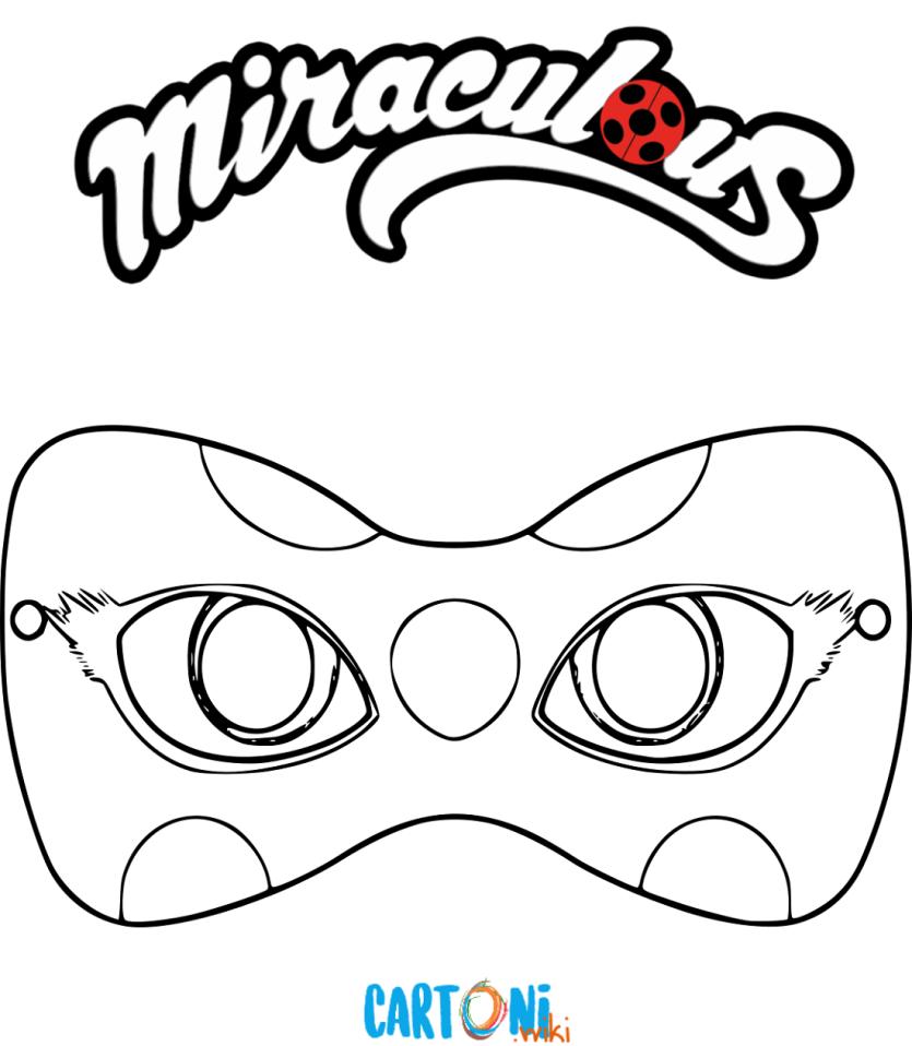 Colora la maschera di ladybug for Disegni da colorare lady bug