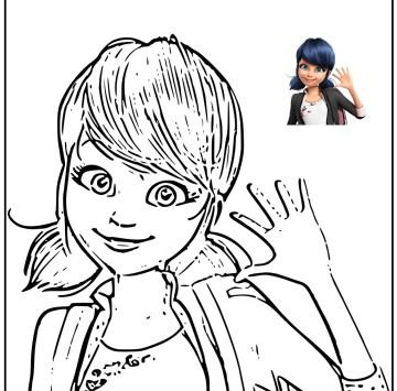 Marinette e Ladybug disegni da stampare - Cartoni animati