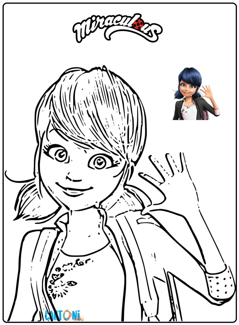 Marinette E Ladybug Disegni Da Stampare Cartoni Animati