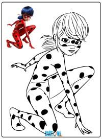 Ladybug da colorare - Disegni da colorare