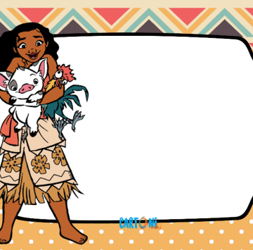 Moana Card Birthday - Cartoni animati