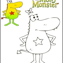 Molly Monster disegni da colorare - Disegni da colorare