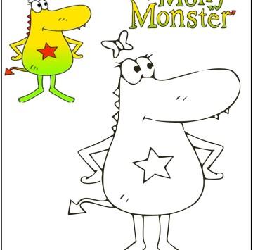 Molly Monster disegni da colorare - Cartoni animati