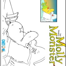 Molly monster da colorare - Disegni da colorare