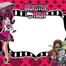 Monster high invito festa di compleanno Draculaura - inviti compleanno online