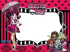 Monster high invito festa di compleanno Draculaura