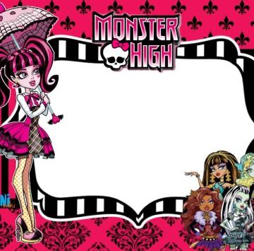 Monster high invito festa di compleanno Draculaura - Cartoni animati
