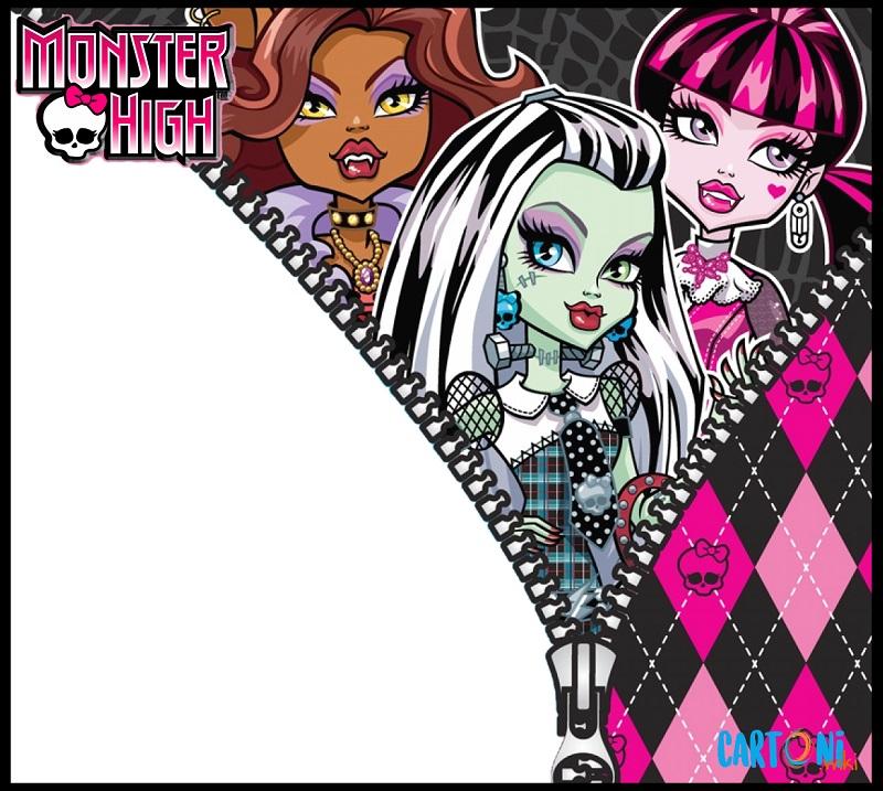 Inviti feste di compleanno Monster High - Cartoni animati