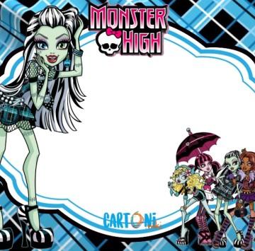 Monster High party invitation Frankie Stein - Cartoni animati