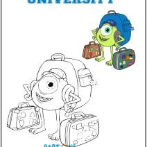Colora Mike di Monsters University - Disegni da colorare