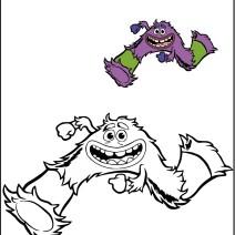 Colora Art il mostro di Monsters university - Disegni da colorare