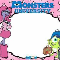 Monsters University inviti festa  - Inviti feste compleanno