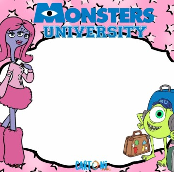 Monsters University inviti festa  - Cartoni animati