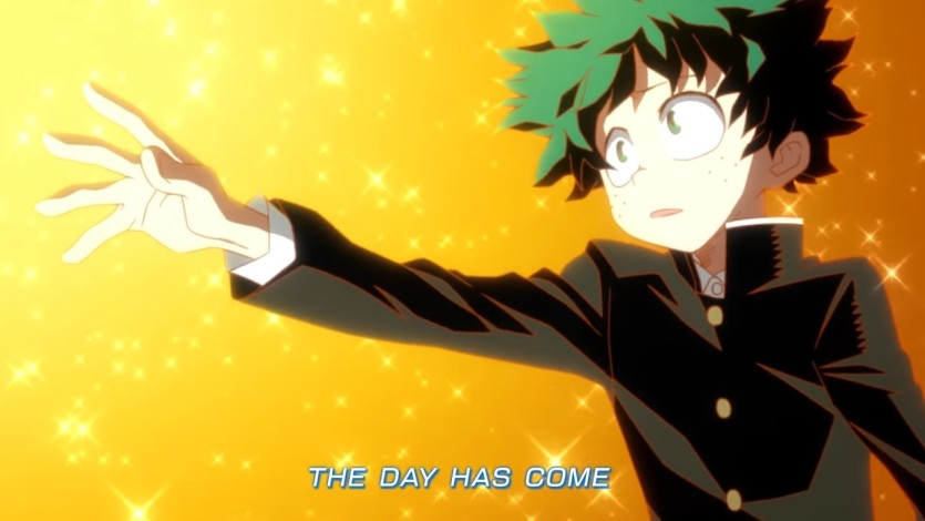 The day sigla ufficiale di my hero academia cartoni animati