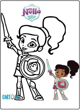 Nella principessa coraggiosa disegni da colorare