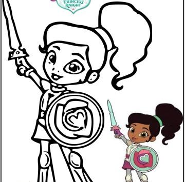 Nella principessa coraggiosa disegni da colorare - Cartoni animati