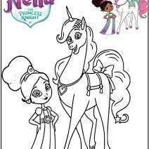 Colora Nella la principessa coraggiosa - Disegni da colorare
