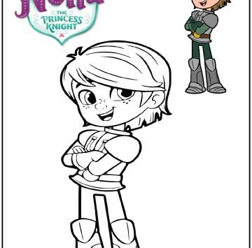 Nella Principessa coraggiosa colora Garrett - Cartoni animati