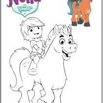 Nella the princess knight colouring pages - Coluloring pages