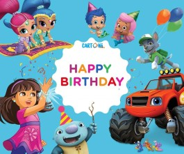 Happy Birthday con i cartoni animati di Nick Junior