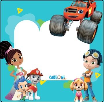 Inviti con i personaggi dei cartoni animati di Nick Jr. - Cartoni animati