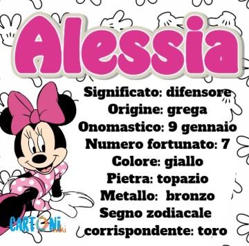 Alessia significato e origine del nome - Cartoni animati