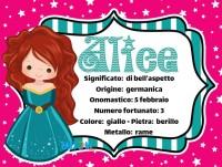 Alice significato del nome e altre curiosità - Nomi