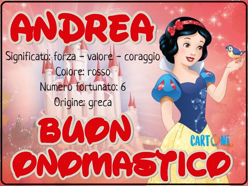 Andrea buon onomastico - Cartoni animati