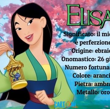 Elisa origine e significato del nome - Cartoni animati